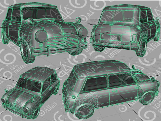 My 1st car a mini simply maya user community for my 3rd project in maya ive decided to try modelling a car and i found a lovely blueprint for a mini cooper heres my model so far malvernweather